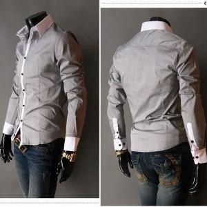 chemise pour homme tendance slim diff rents coloris manches longues clothes discount. Black Bedroom Furniture Sets. Home Design Ideas