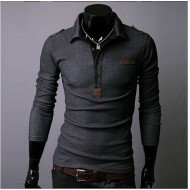 Polo Homme Tendance Manches Longues