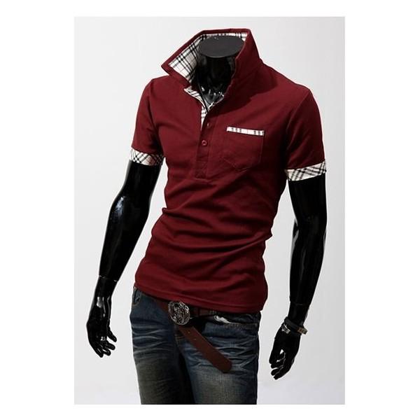 polo pour homme tendance motif diff rents coloris manches courtes clothes discount. Black Bedroom Furniture Sets. Home Design Ideas
