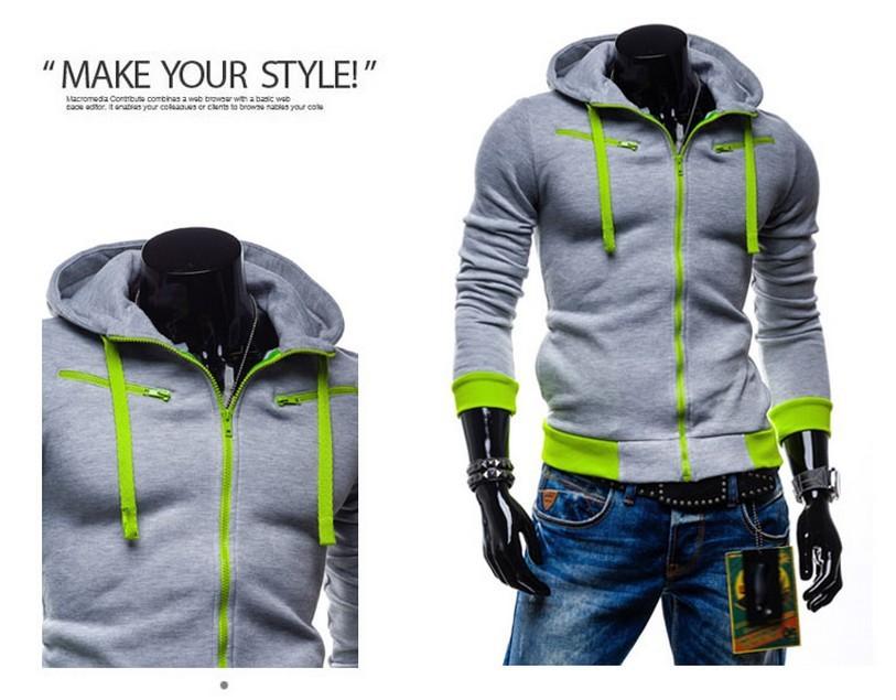 Sweat homme tendance zip coloré